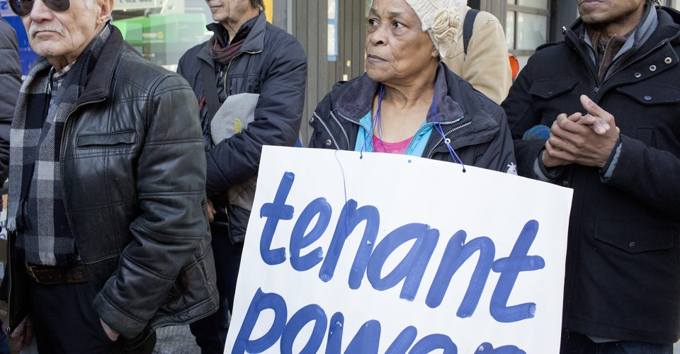 Letitia James joins rent controlled tennants