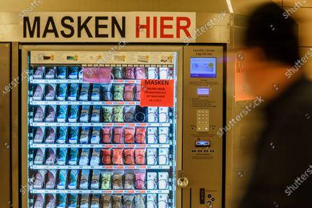 Facial mask vending machine in Berlin, Germany - 27 Apr 2020
